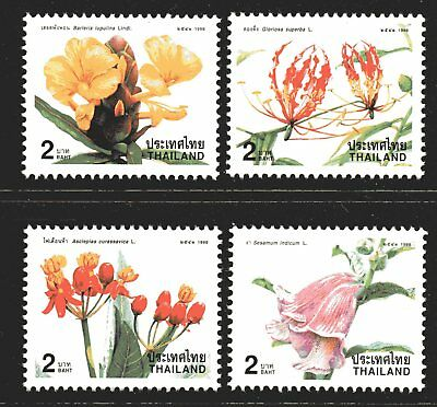 Thailand 1998 New Year Flowers set of 4 Mint Unhinged