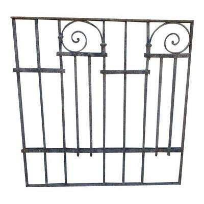 Antique Victorian Iron Gate Window Garden Fence Architectural Salvage Door #057