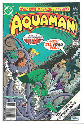 Aquaman # 57 DC Comics 1977 Black Manta / Fisherman / Storm the Seahorse (Cameo)