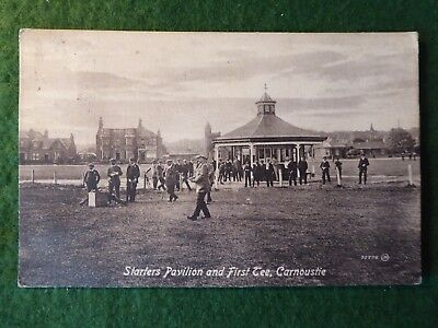 Angus. Carnoustie Golf Links. J H Taylor Driving From 1st Tee.  Pre 1918.