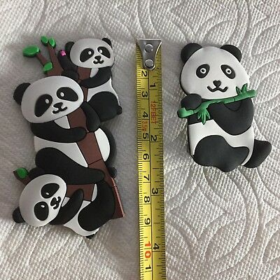 Panda Shoe Charms Fits Crocs Panda Clog Charm Panda Cake Decorations Panda Bear