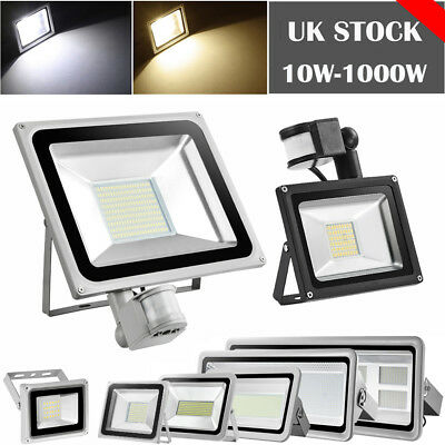 LED Floodlight 10W 20W 30W 50W 100W PIR Sensor Outdoor Security Spotlight 220V