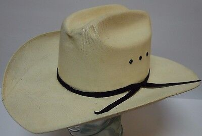 dabe3397cfd Vintage ARLOP SUPER LONA FINA RODEO Straw Western Mexico Cowboy Hat Size 7 1  8