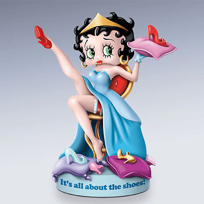 BETTY BOOP It's All About The Shoes Born to Be Princess Figurine NEW