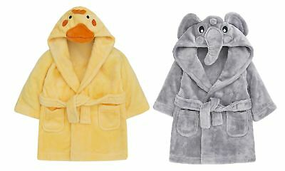 Babytown Cute Baby Velvety Soft Hooded Animal Dressing Gown