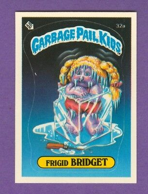 1985 Topps GARBAGE PAIL KIDS #32a Frigid Bridget (Matte) *Excellent-Mint*