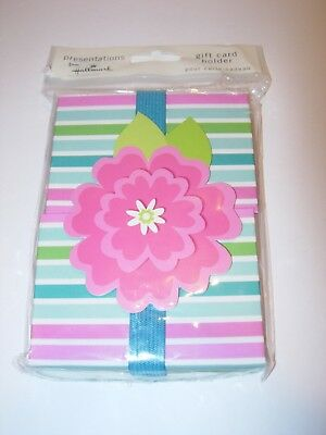 Hallmark Blue Pink Birthday Wedding Party Gift Card Holder Box All Occasion 4X5