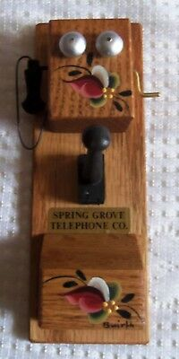 2006 spring grove,mn syttende mai hand carved & rosemall telephone co. replica