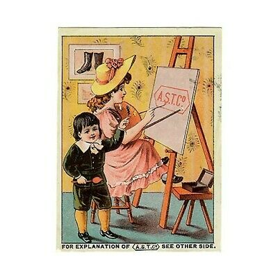 AST Co Shoe Tips Boots Slippers Portsmouth NH Victorian Trade Card