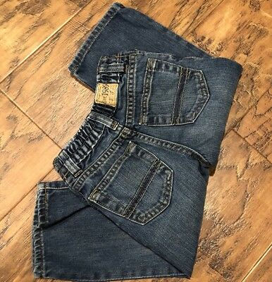 Toddler Boy 18-24 month Adjustable Denim blue jeans bootcut THE CHILDREN'S PLACE