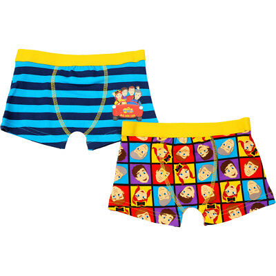 The Wiggles Boys 2 Pack Shortie Briefs - Blue