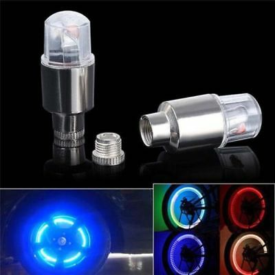4pcs RGB LED Tyre Tire Valve Caps Bicycle Neon Light Bike Car motorcycle Lamp