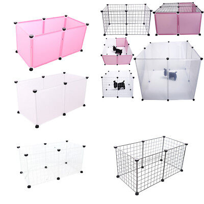 Small Animal Playpen, Metal Wire/Plastic Animal Fence Kennel for Pet Dog Rabbit