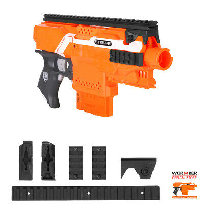Worker MOD Tactical Picatinny Rail Combo Top and Side for Nerf STRYFE Modify Toy