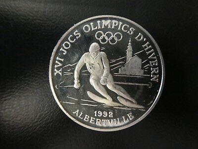 "Andorra: 10 Diners ""Olympiade Albertville 1992"" 1989 - PP/Ag"