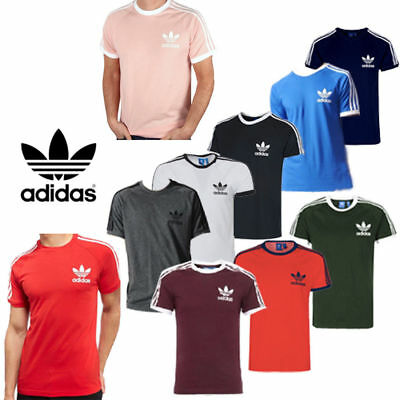 Adidas Originals Men California Retro Essentials Crew Neck Short Sleeve T-Shirt