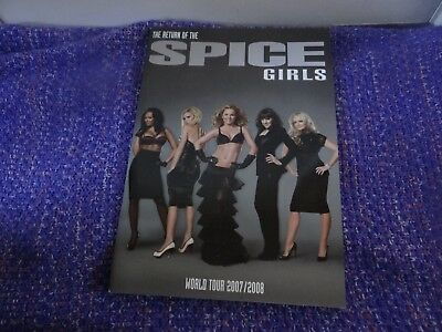 The Return of the Spice Girls World Tour 2007/2008 Programme
