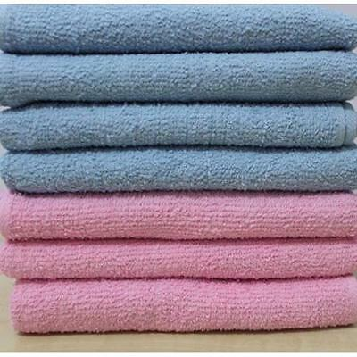 DUDU N GIRLIE Baby Terry Toweling 100% Cotton Nappies, Pink & Blue, 12 Piece