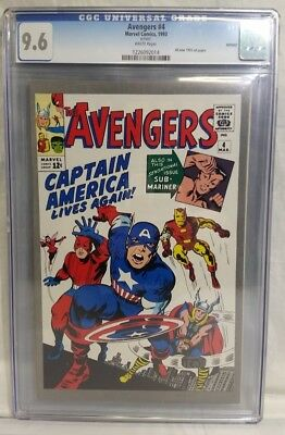 Avengers #4 (1993 JC Penny Reprint) CGC Graded 9.6 White Pages (LP2063672)