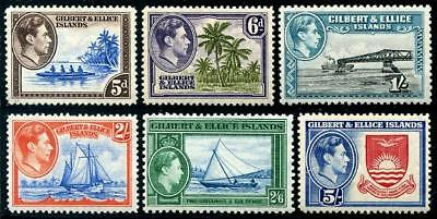 HERRICKSTAMP GILBERT & ELLICE ISLANDS Sc.# 46-51 Mint NH Scott $60.00