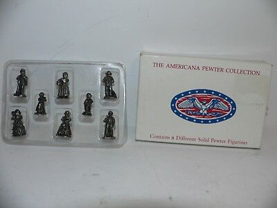 The Americana Collection 8 Miniature Accessory Set Ah-09  Pewter  Set  1991