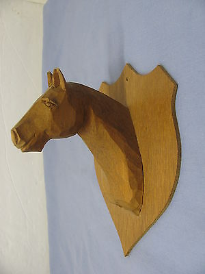 Hand Carved Horse Head Wall Hook