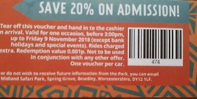 West midlands safari park tickets  20% off admission + free return voucher