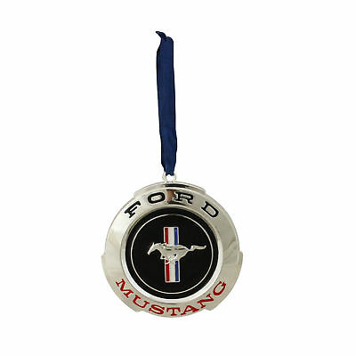 """Northlight 3"""" Black Red Ford Mustang GT Logo Silver Christmas Tree Ornament"""