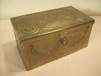 WORLD WAR II~BELGIUM CHOCOLATES~WWII BRASS CANDY BOX~SIGNED w/ARMY SERIAL NUMBER