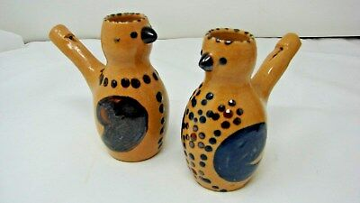 Early Vintage Lot 2 Pottery Bird Whistle Whistles