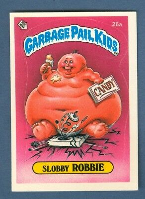 1985 Topps GARBAGE PAIL KIDS #26a Slobby Robbie (Matte) *Excellent*