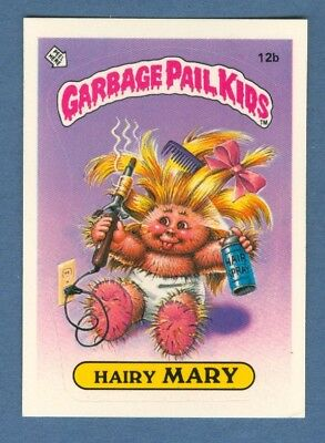1985 Topps GARBAGE PAIL KIDS #12b Hairy Mary (Glossy) *Excellent*