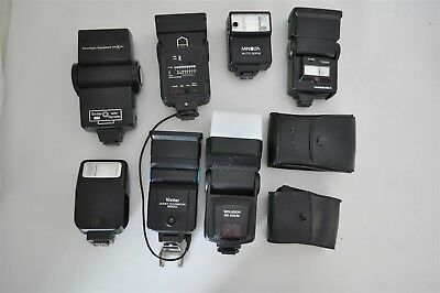 Lot Of 7 Untested Camera Flashes/Speedlights
