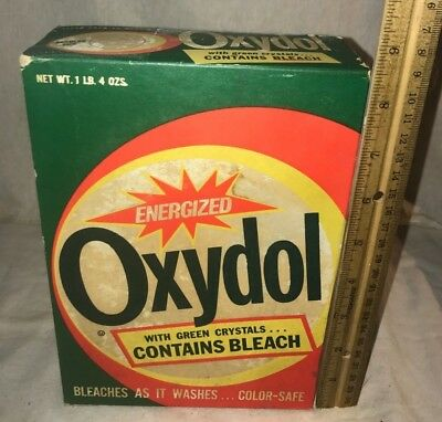 Antique Unopened Oxydol Laundry Soap Detergent Box Vintage Cleaner Cincinnati Oh