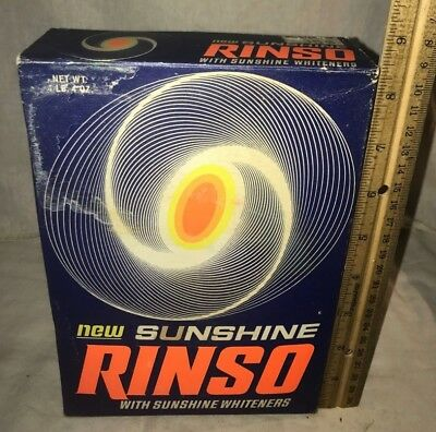 Antique Unopened Rinso Laundry Soap Detergent Box Vintage Lever Bros Cleaner Old