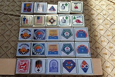 Old Vtg BSA Boy Scouts Uniform Metal Belt Merit Badge Slide Mixed Lot Collection
