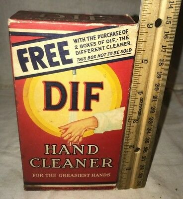 Antique Unopened Free Sample Dif Hand Cleaner Vintage Soap Box Scouring Cleanser