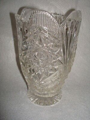 Antique Eapg Early American Pattern Glass Stars & Stripes Celery Vase 6 1/2""