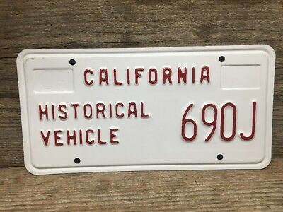 California Historical Vehicle License Plate 690J Beautiful Condition
