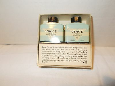 Vintage medical doctor sample Vince Laboratories 2 can with box