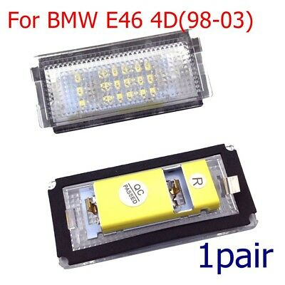 1Pair 18LED Rear License Number Plate light Lamp Bulb For BMW E46 4D 1998-2003