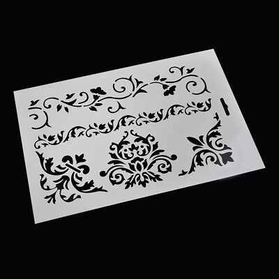 White DIY Scrapbooking Embossing Flower Layering Stencils Paper Cards Craft