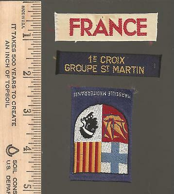 B5) Scouts France  - lot of 3 - late 1950s early 60s