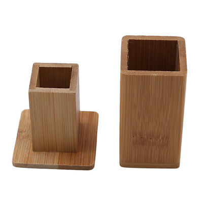Bamboo Toothpick Box With Lid Square Jar Toothpick Containers Kitchen Tools BS