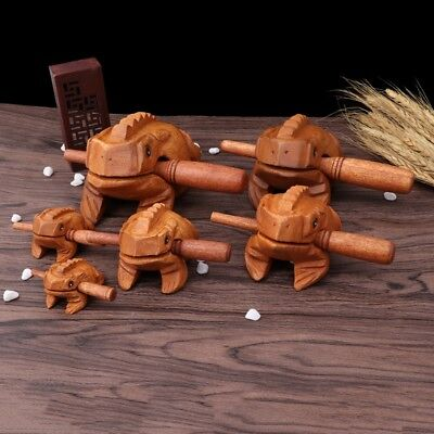 Thailand Craft Wooden Lucky Frog Croaking Musical Instrument Office Home Decor