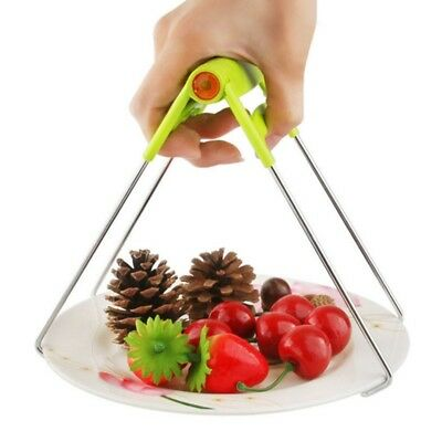 Antiscald Kitchen Bowl Plate Clip Stainless Steel Clamp Holder Handheld Clip 1PC