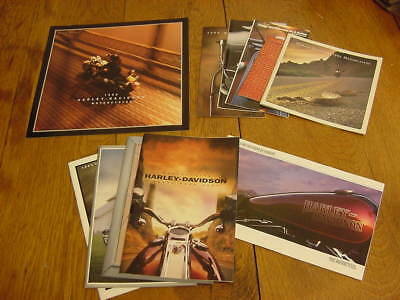 Lot of 11 Harley-Davidson motorcycle brochures, catalogs