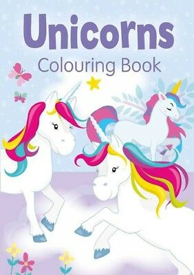 Unicorn Colouring Book Magical Unicorns Colour Activity Book PURPLE Childrens