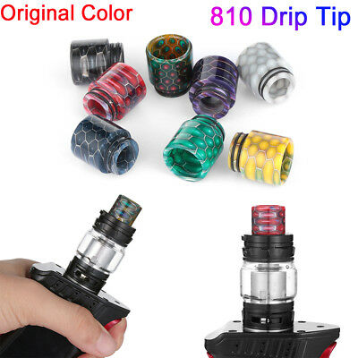 New 810 Drip Tip Epoxy Cobra Snake Skin Resin Mouthpiece Cap for TFV12 Prince