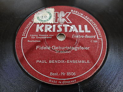 Paul Bendix - Ensemble    auf Schellackplatte
